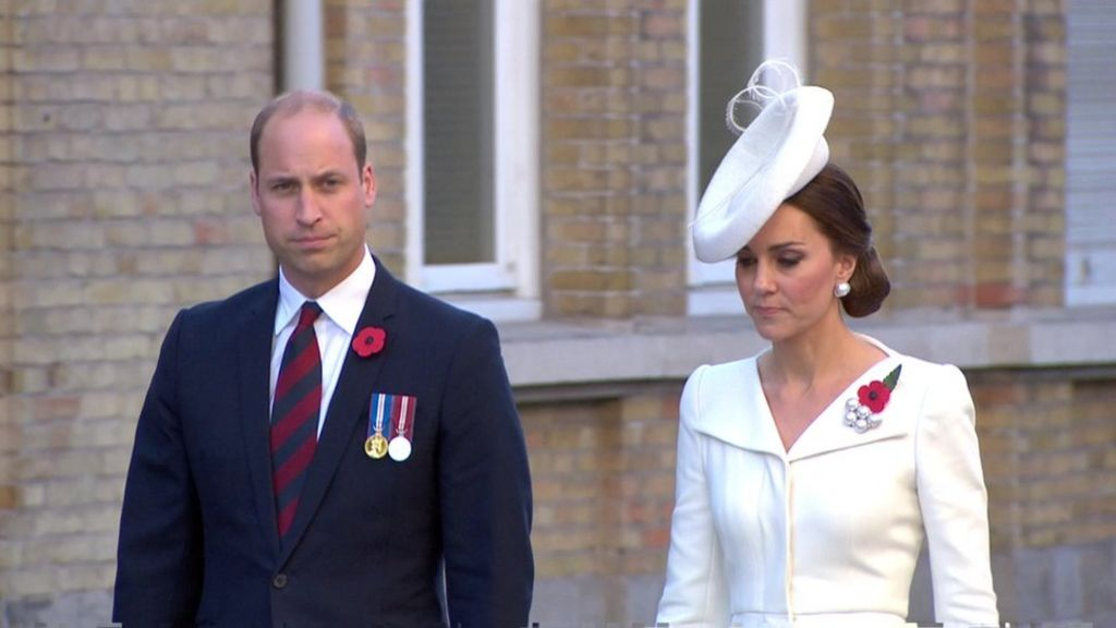 Passchendaele 100: William and Kate join commemorations