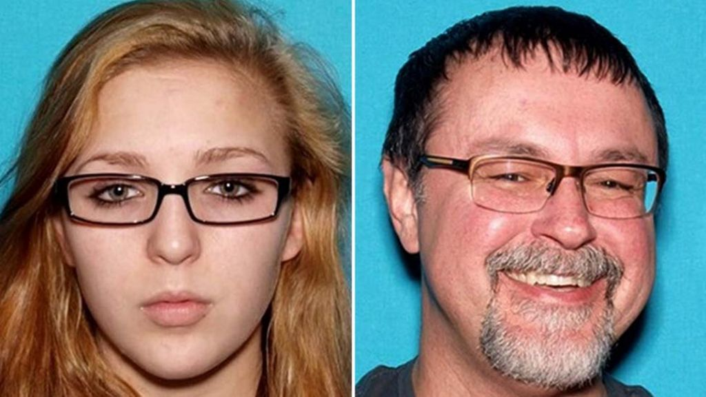 US fugitive teacher found with student after month on run