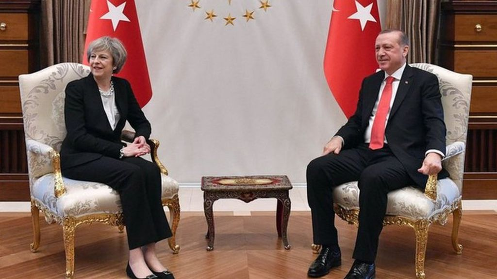 Theresa May in Turkey: UK agrees £100m defence deal - BBC News