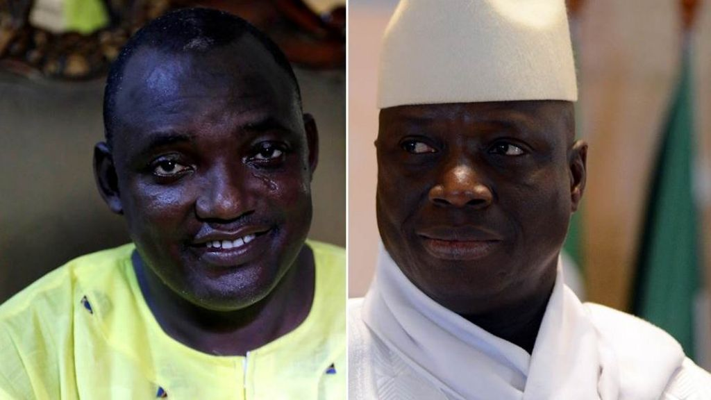 Gambia leader Yahya Jammeh rejects election result - BBC News