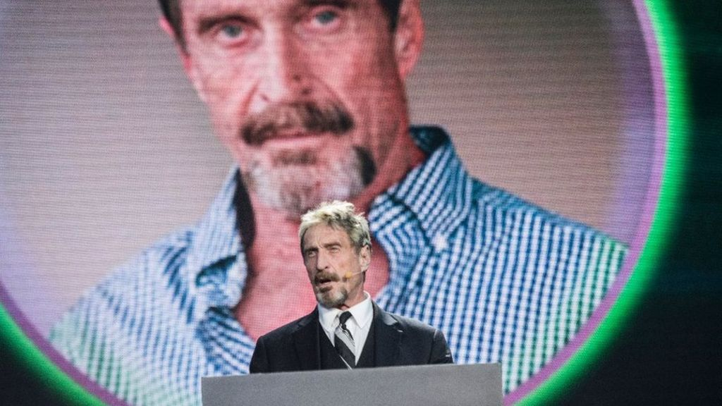 John McAfee says his Twitter account was hacked