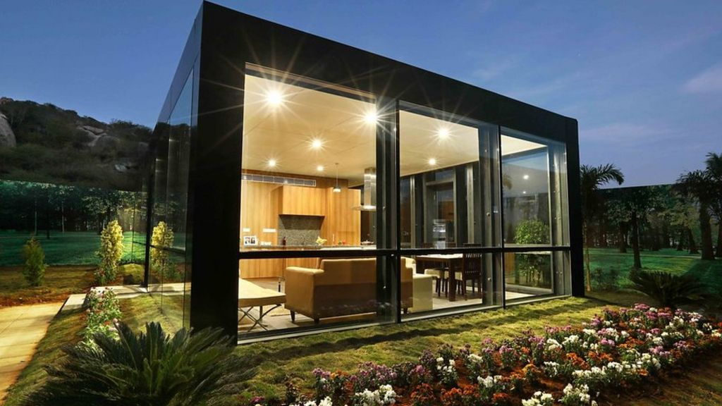 Creating low cost luxury modular homes bbc news for A frame house cost
