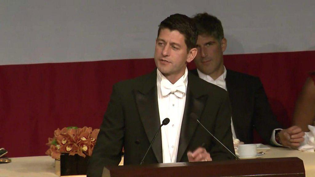 Paul Ryan cracks jokes at charity dinner