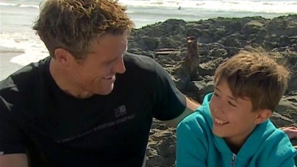 james cracknell and son croyde in devon sea rescue drama. Black Bedroom Furniture Sets. Home Design Ideas