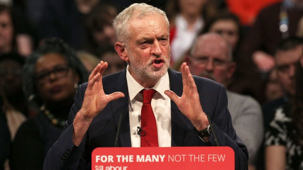 Labour 'staking out centre ground', says Jeremy Corbyn