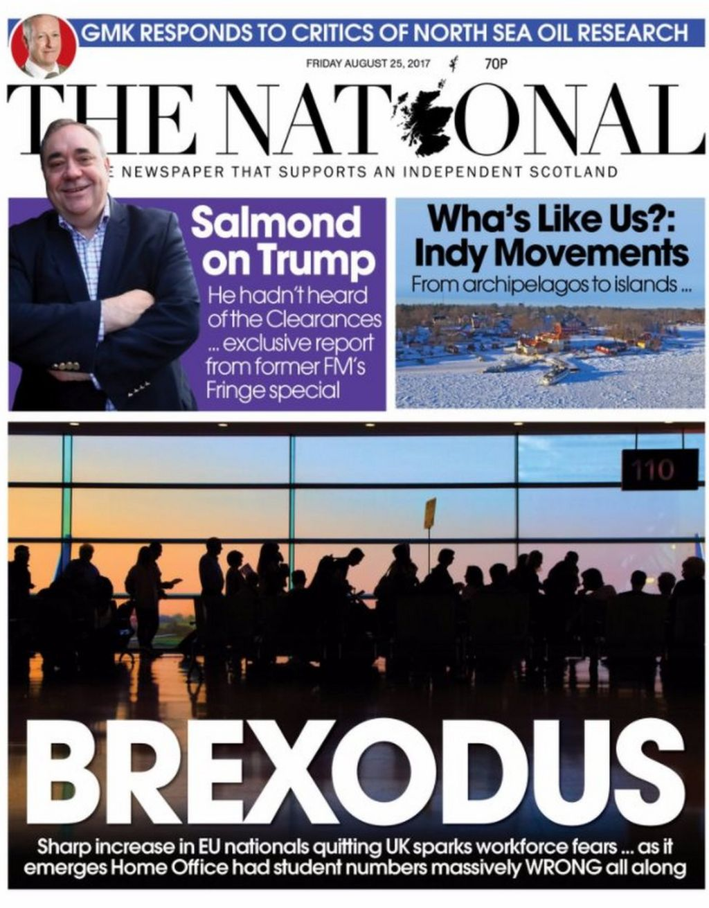 Scotland's papers: 'Brexodus' fears for economy