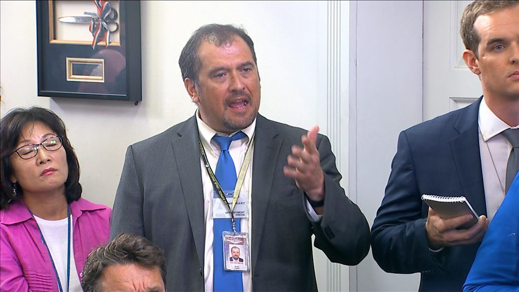 Reporter vents fury at White House over 'fake news' claims