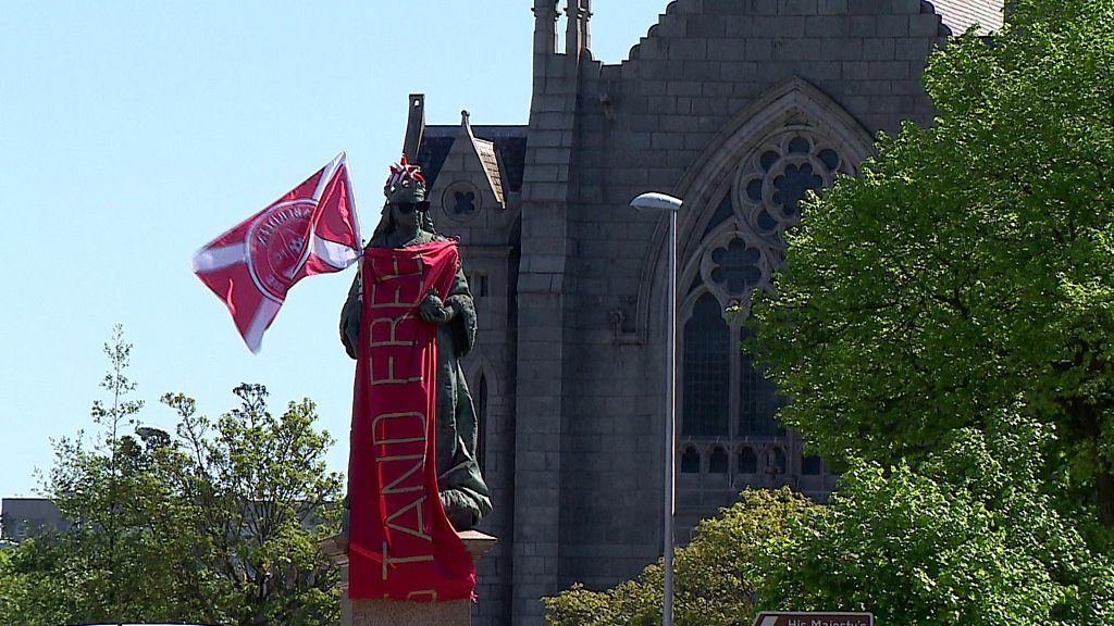 Aberdeen turns red for Scottish Cup finale