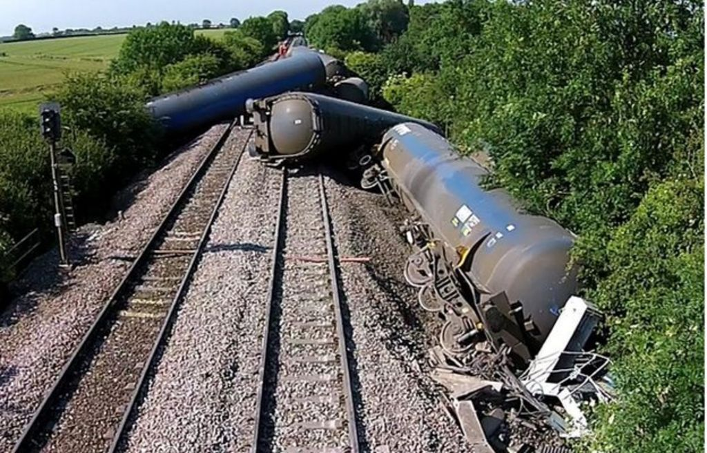 Line reopens after Langworth freight train derailment ...