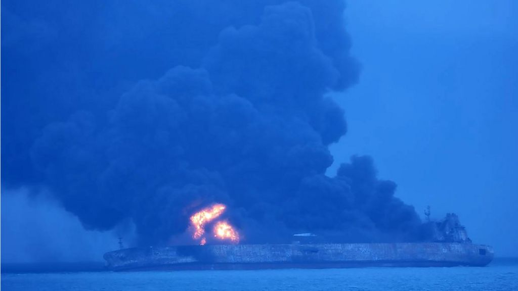 Tanker and ship collision near Shanghai leaves 32 missing