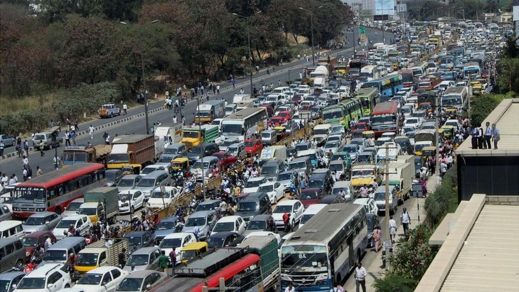 Traffic Jam In Bangalore Outer Ring Road