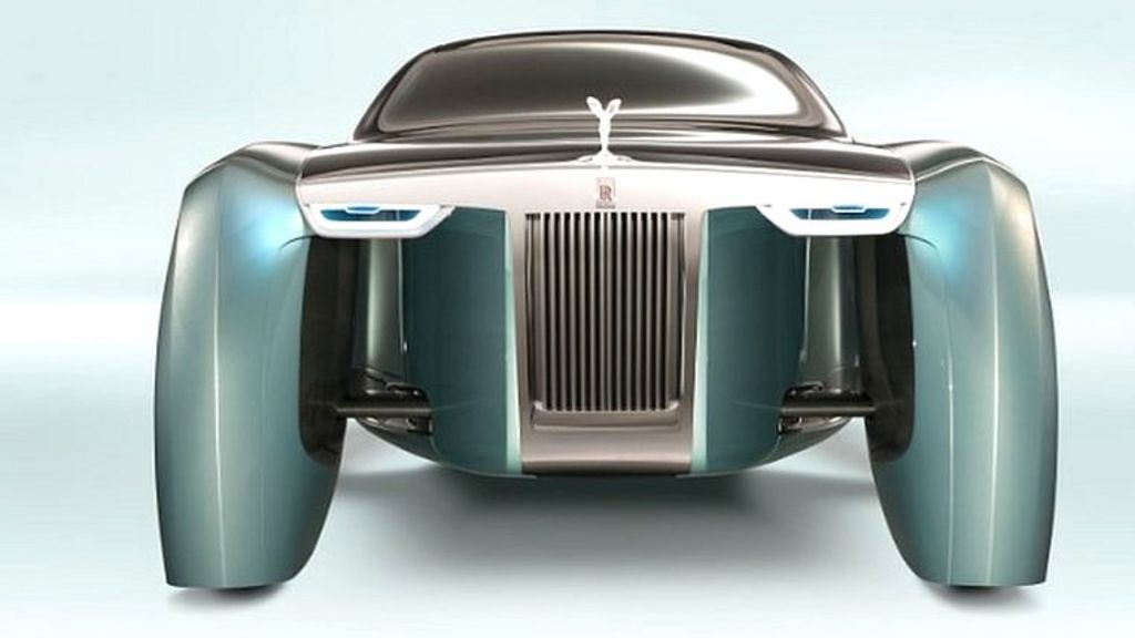 rolls royce shows floating future car bbc news