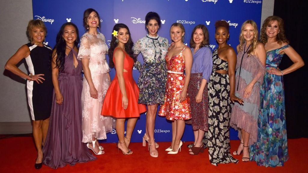 Disney's cartoon princesses gather in real life