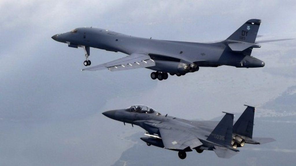 US bombers fly over Korean peninsula