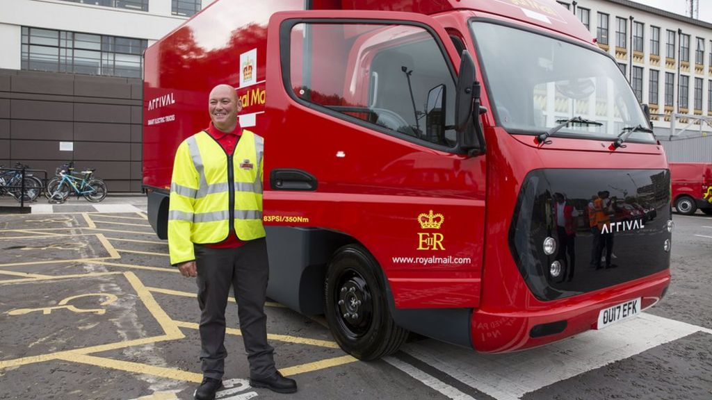Royal Mail's new electric vans unveiled - BBC News