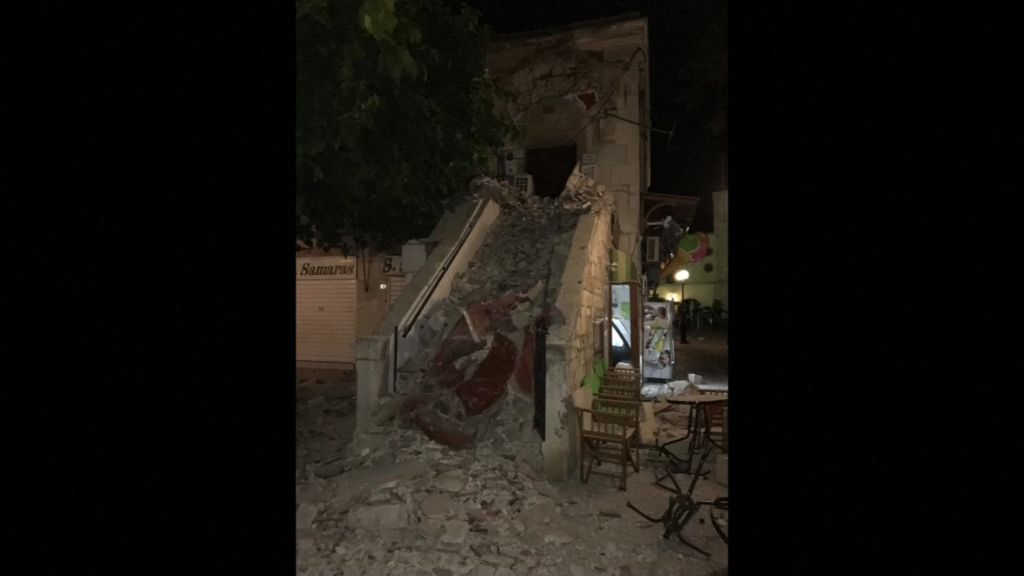 Strong earthquake kills two on Greek island of Kos