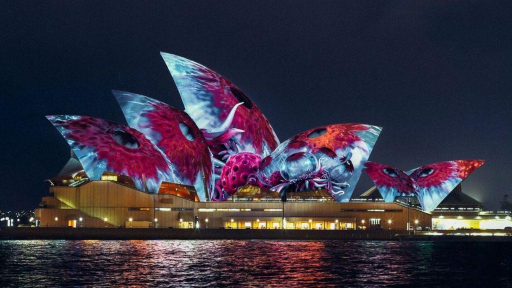 imaginary creatures to light up sydney opera house bbc news. Black Bedroom Furniture Sets. Home Design Ideas