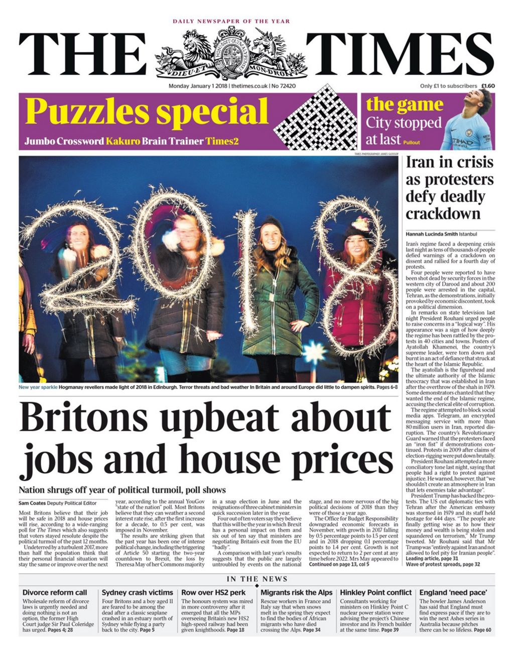 Newspaper headlines: Britons 'upbeat' as hospitals face ...