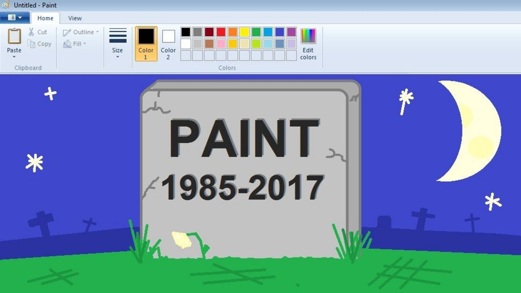 Microsoft Signals End Of Paint Program Bbc News