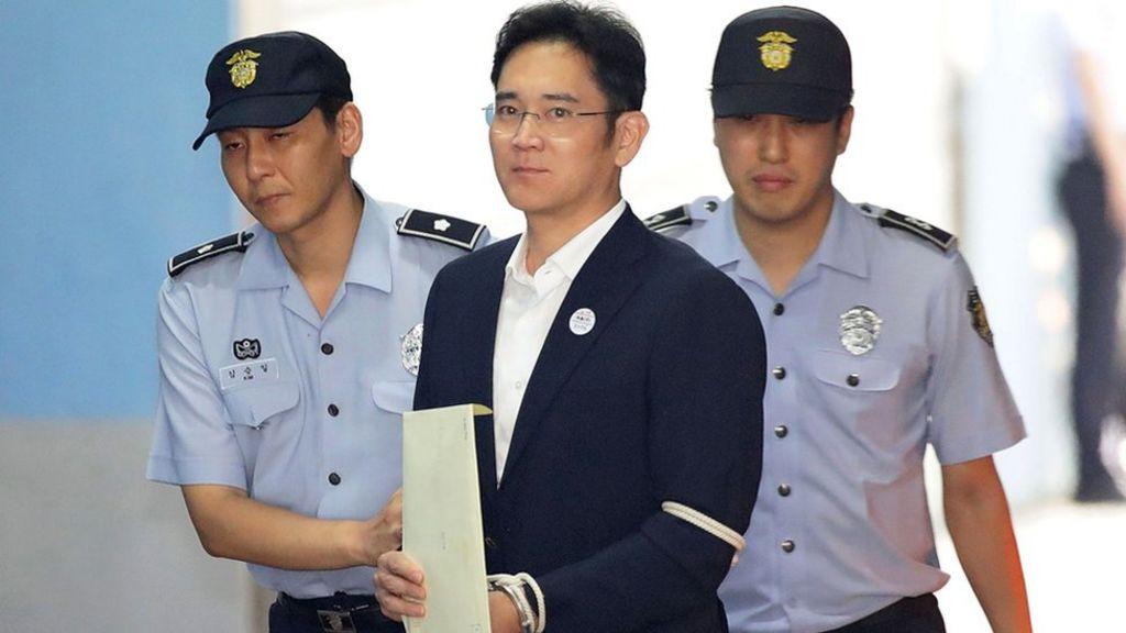 Samsung heir Lee Jae-yong jailed for corruption - BBC News