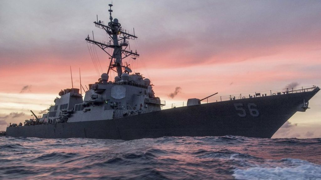 US Navy ship collides with oil tanker off Singapore - BBC News