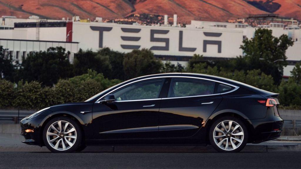 Tesla's Elon Musk tweets new photos of latest car, the Model 3 – BBC News