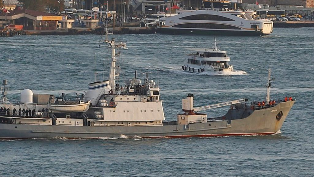 bbc.co.uk - Russian spy ship sinks off Turkey after collision with freighter - BBC News
