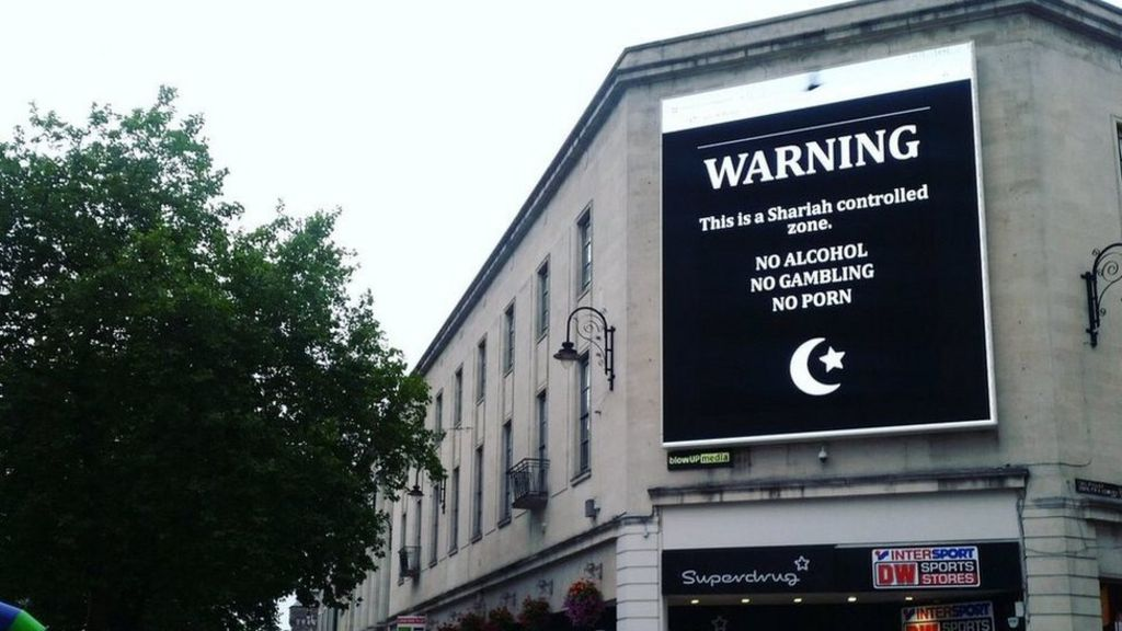 Cardiff billboard offensive images display after hack - BBC News