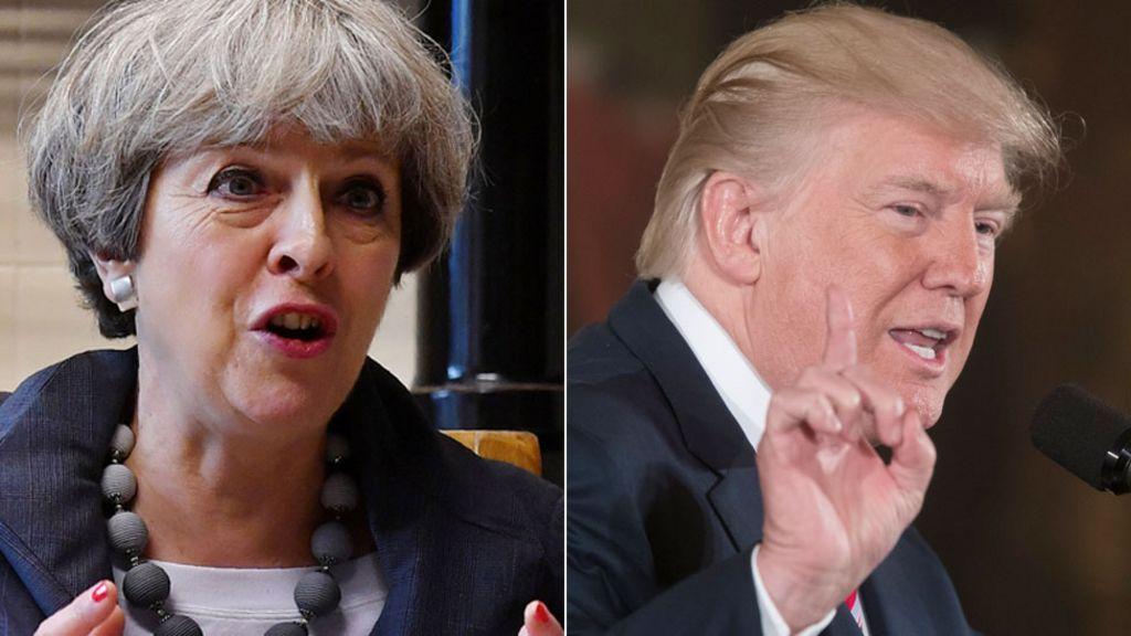 Theresa May: Donald Trump wrong to criticise Sadiq Khan ...  Theresa May: Do...