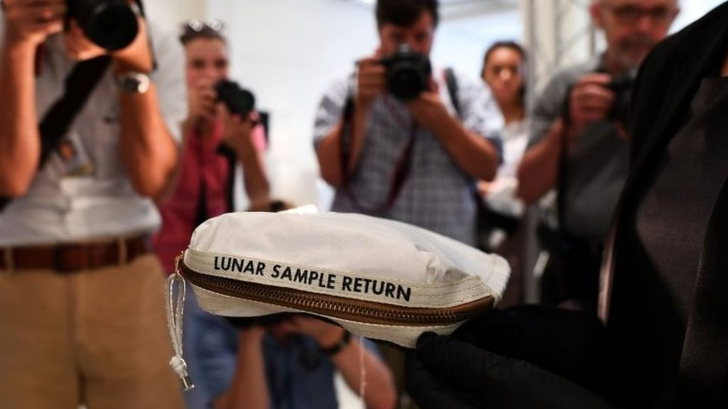 Moon dust bag sold for $1.8m at New York auction