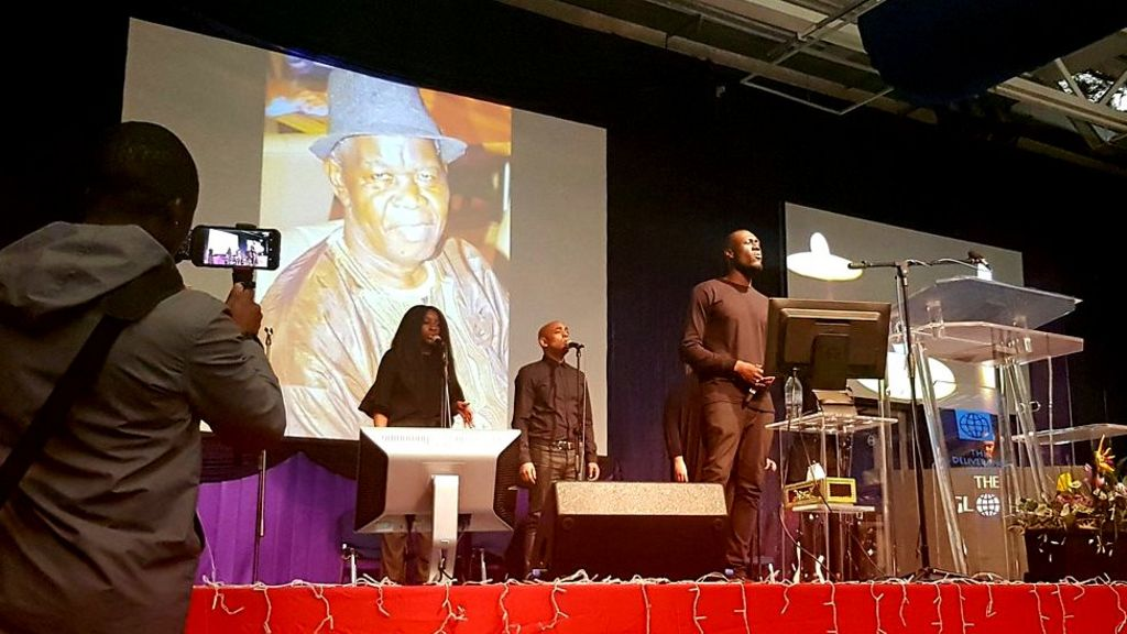 Stormzy sings at fan's father's funeral