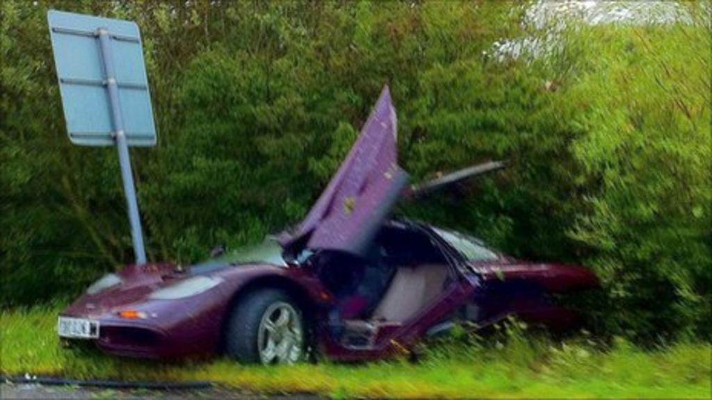 Rowan Atkinson Crashes Mclaren F1 Supercar Into Tree Bbc