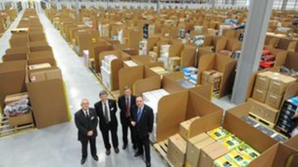 Alex salmond opens amazon 39 s fife distribution centres for Alex co amazon