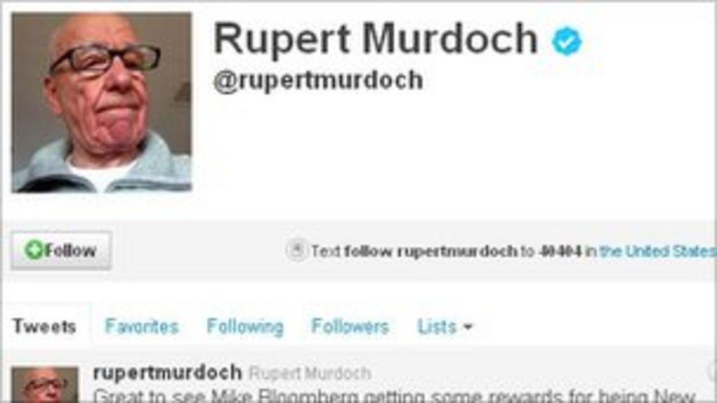 Bbc News Twitter: News Corp's Rupert Murdoch Joins Twitter Social Network