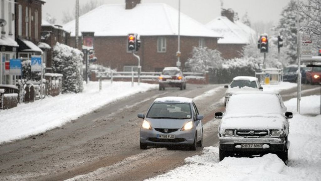 how to drive in snow and icy weather bbc news