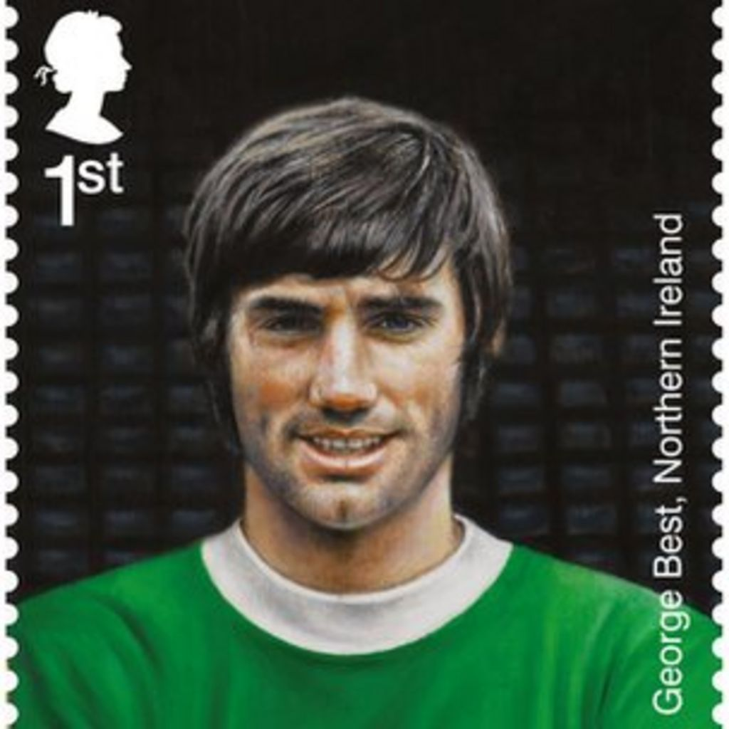George Best football stamps go on sale BBC News