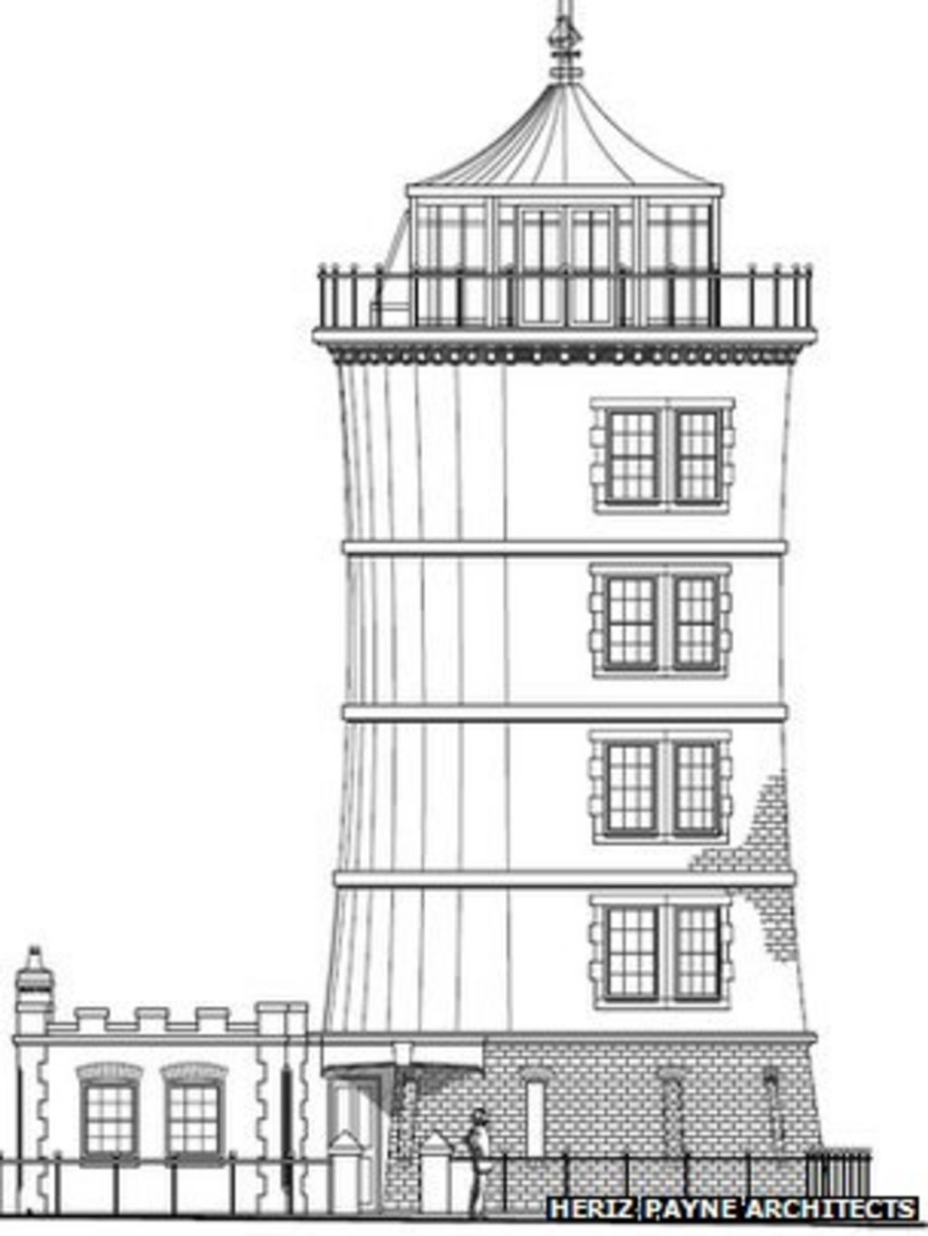 Glastonbury carpenter has lighthouse home plan bbc news for Lighthouse home plans