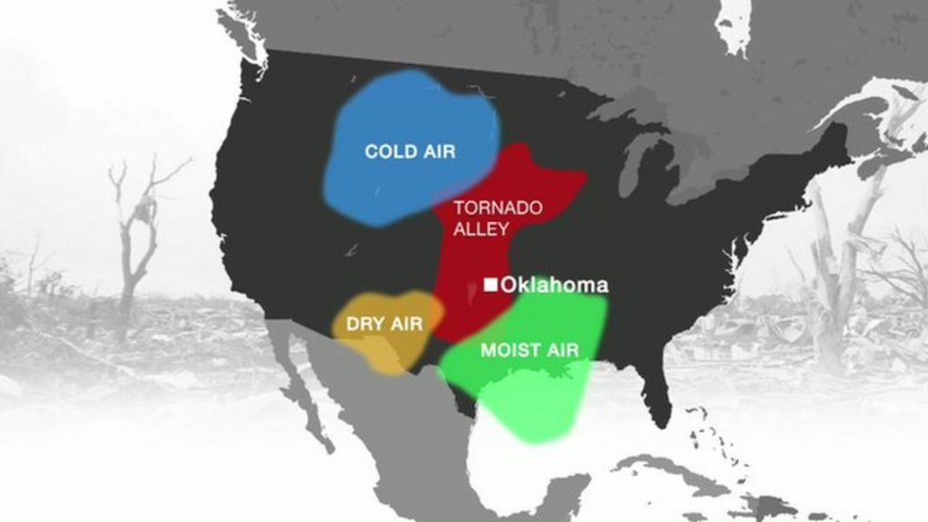 Oklahoma tornado: What causes storms in 'Tornado Alley'? - BBC News
