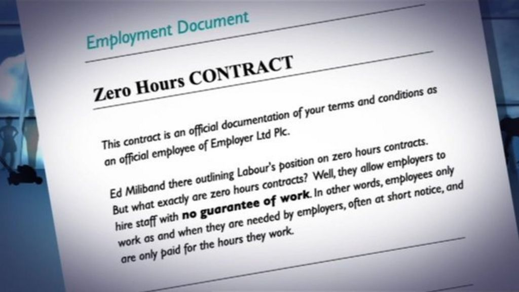 Zero hours contract for workers explained by economist for 0 hours contract template