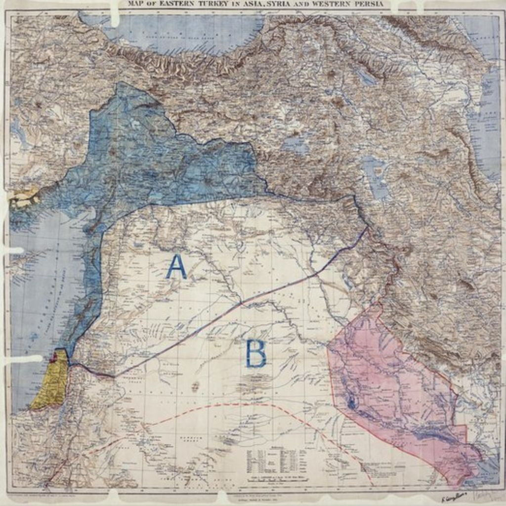 Why Border Lines Drawn With A Ruler In WW Still Rock The Middle - Map of the middle east us war plan