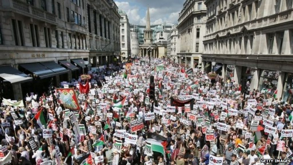 Protest News: Tens Of Thousands Of Protesters March In London For Gaza