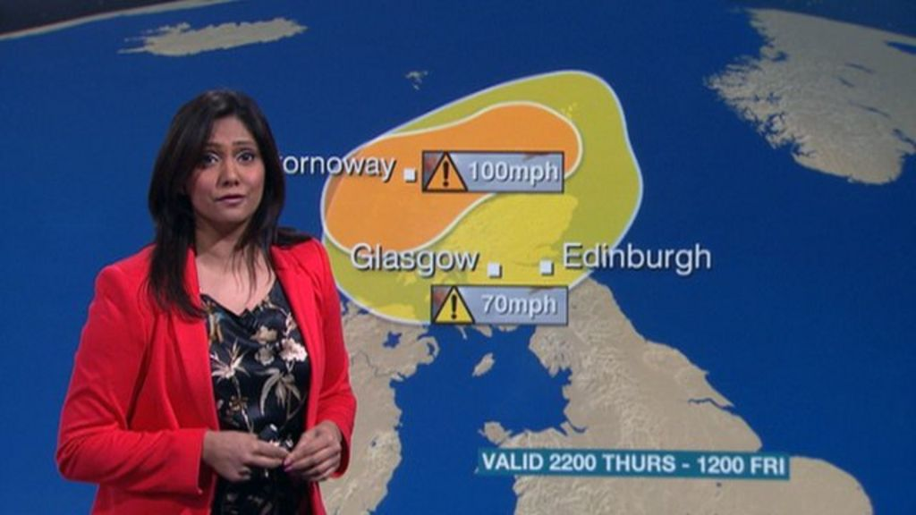 severe weather warnings issued for scotland