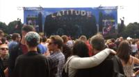 Views from Latitude Festival 2017, from back stage, to pink sheep and to the toilets.