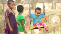 Children in Ethiopian refugee camp