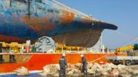 Work begins on examining the recovered Sewol ferry