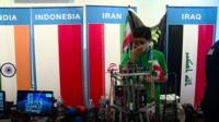 A team of Iranian students finds an inventive way to take part in a US robotics competition.