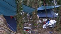 Tents in Calais