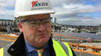 Howard Monsen, senior project manager, for builders Kier, said the position was unique