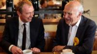 Tim Farron and Vince Cable