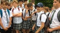 schoolboys in skirts